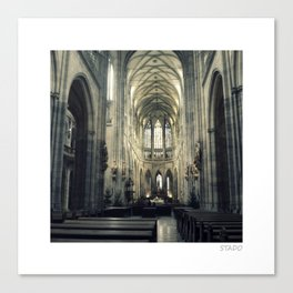 St Vitus Cathedral In Prague Canvas Print