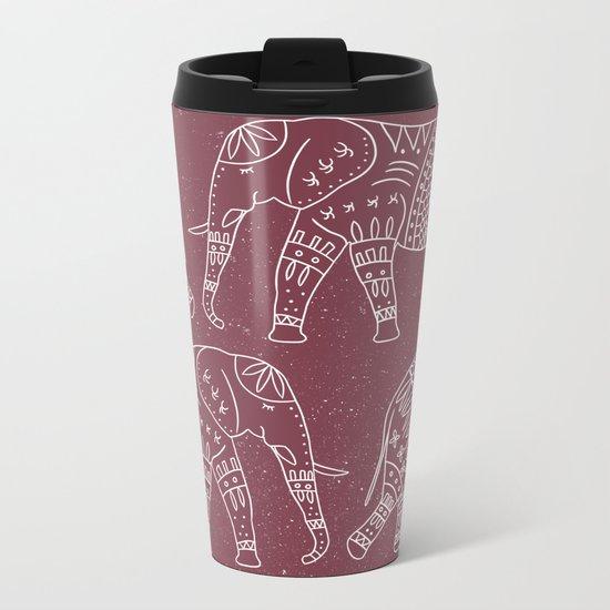 Yoga Elephant 2 Metal Travel Mug