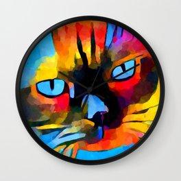 Cat 5 Wall Clock