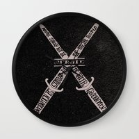 vendetta Wall Clocks featuring V for Vendetta by Drew Wallace