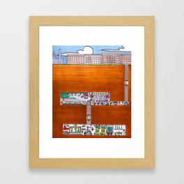 Beneath the Pentagon Framed Art Print