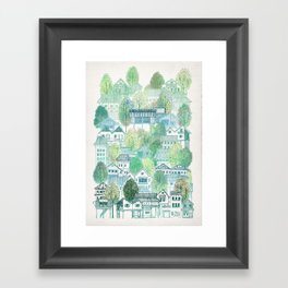 Jungle Village Framed Art Print