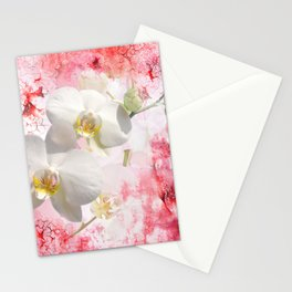 Weiße Orchideen Stationery Cards