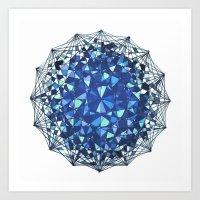 snowflake Art Prints featuring Snowflake by LDBEAN
