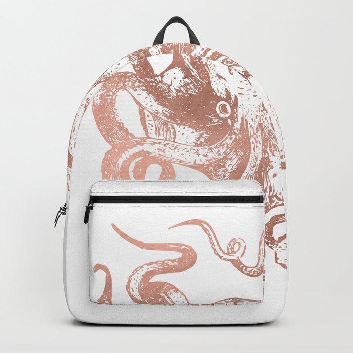 Rose Gold Octopus Backpack