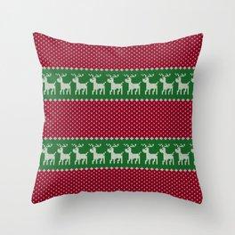 Christmas Deers Throw Pillow