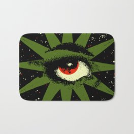 Red and Green All Seeing Cosmic Eye Bath Mat
