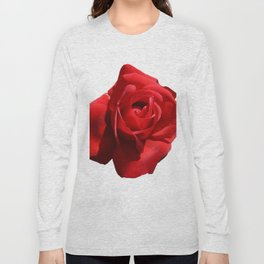 Red Rose Isolated Long Sleeve T-shirt