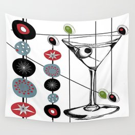 Mid-Century Modern Art Atomic Cocktail 3.0 Wall Tapestry