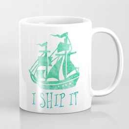 I Ship It - Watercolour Coffee Mug