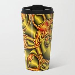 golden metall pattern Travel Mug