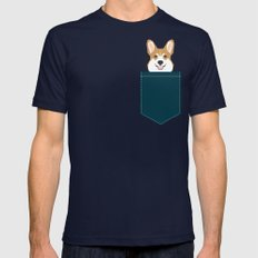 Teagan - Corgi Welsh Corgi gift phone case design for pet lovers and dog people Mens Fitted Tee MEDIUM Navy