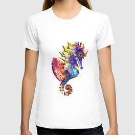 Rainbow Seahorse, seahorse art design T-shirt