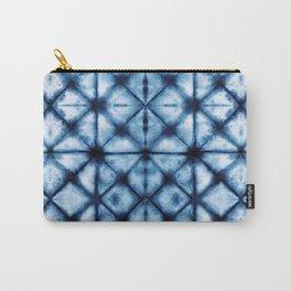 Shibori Paper Blues Carry-All Pouch