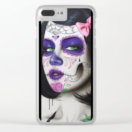 'Ink Mosaic VI' Clear iPhone Case