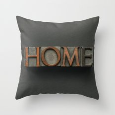 Vintage Home Letters Throw Pillow