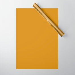 Best Seller Golden Mustard Solid Color Pairs w/ Sherwin Williams 2020 Trending Hue Auric Gold SW6692 Wrapping Paper