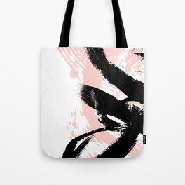 Black Brush strokes Tote Bag