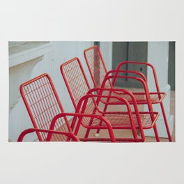 Red Chairs Rug