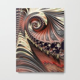 Funky Spiral Metal Print