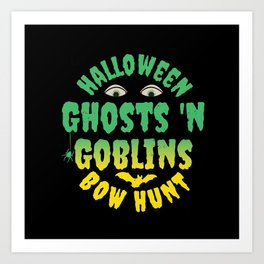 "Halloween ""Ghosts 'N Goblins Bow Hunt Art Print"