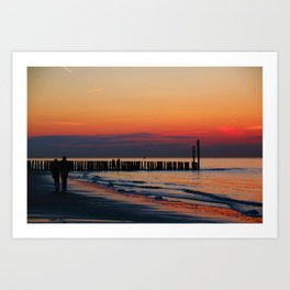 Time for Romance by the Northsea in the Netherlands Art Print