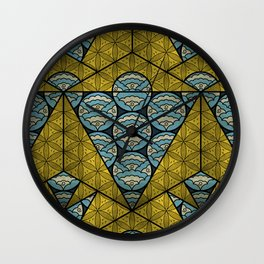 Sacred Geometry - Octahedron Air Wall Clock