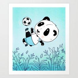 Soccer Panda Art Print