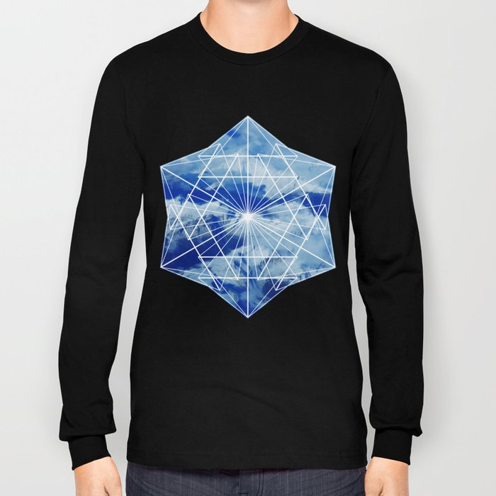 Mountains, Clouds and Geometry Long Sleeve T-shirt