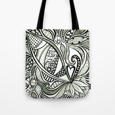 Zentangle Flowering Tote Bag