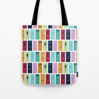 doors Tote Bags featuring Doors by Luciana Brasil