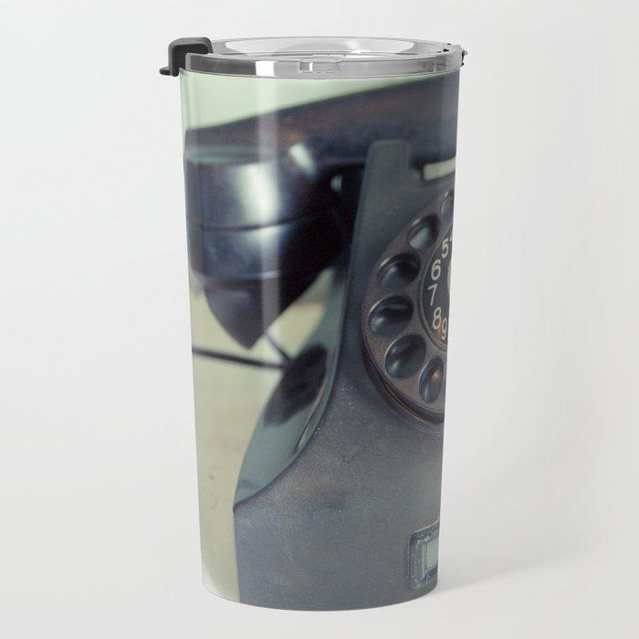 Old Rotary Telephone Travel Mug