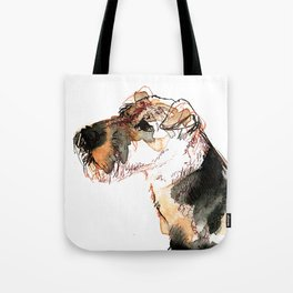 Airedale Terrier Watercolor #2 Tote Bag