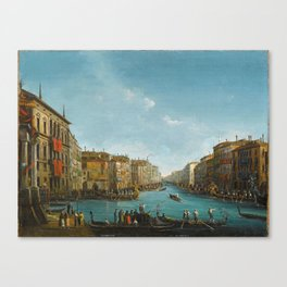 Giuseppe Bernardino Bison (Palmanova 1762–1844 Milan) The Regatta on Grand Canal, Venice, Canvas Print
