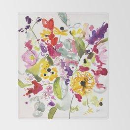 Jim Dandy Farm Flowers Throw Blanket