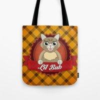 lil bub Tote Bags featuring Lil Bub by memetronic