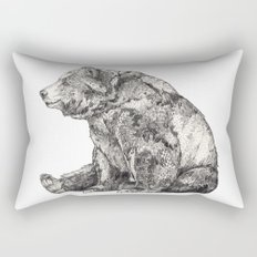 Bear // Graphite Rectangular Pillow