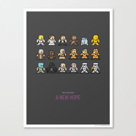 Mega Star Wars: Episode IV - A New Hope Canvas Print