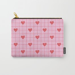 Pink red hearts pattern Carry-All Pouch
