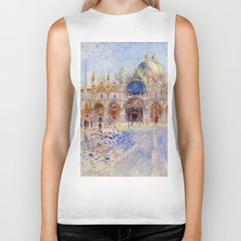 "Auguste Renoir ""The Piazza San Marco, Venice"" Biker Tank"