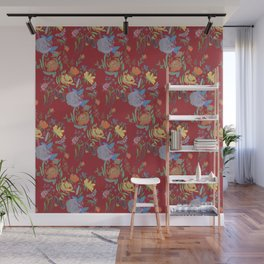 watercolor floral pattern Wall Mural