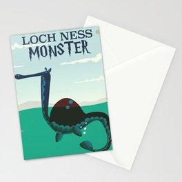 Loch Ness Monster vintage 'children's book' travel poster Stationery Cards