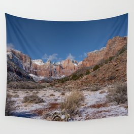 Zion Winter 4718 - National_Park, Utah Wall Tapestry