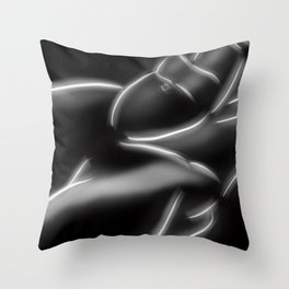 Seated Male Nude Throw Pillow