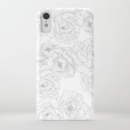 Peony Flower Pattern iPhone Case