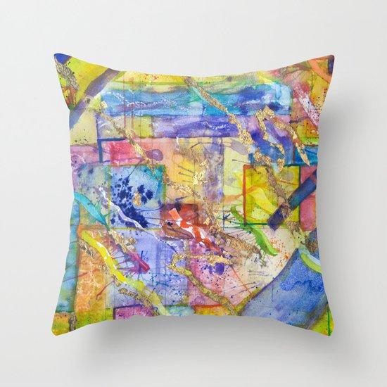My Mondrian Throw Pillow