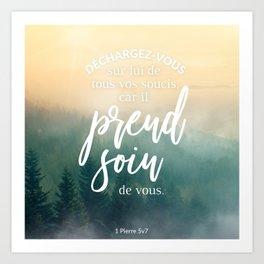 Dieu prend soin de vous Art Print