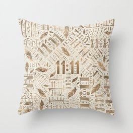Eleven Eleven Numerology Pattern Angel Feathers #3 Throw Pillow