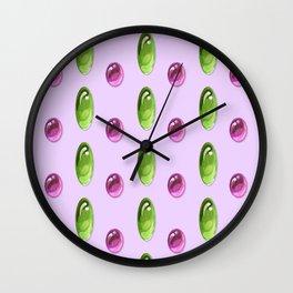 Oval Cabochon Pattern Wall Clock
