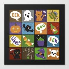 Halloween Doodles Canvas Print